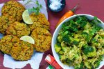 Cremet broccolisalat & Spicy linsedeller