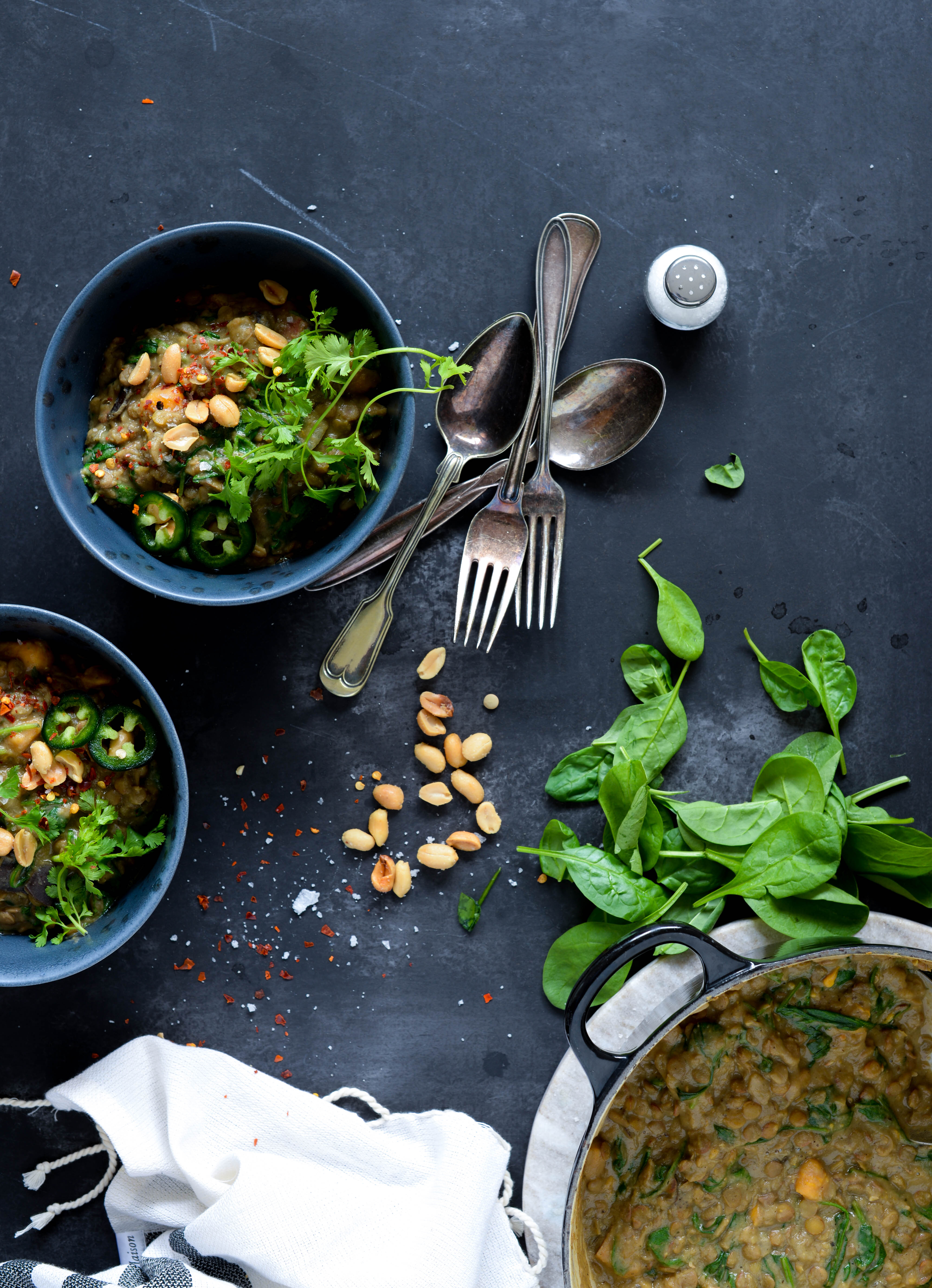 One Pot cremet thai-peanut linsegryde