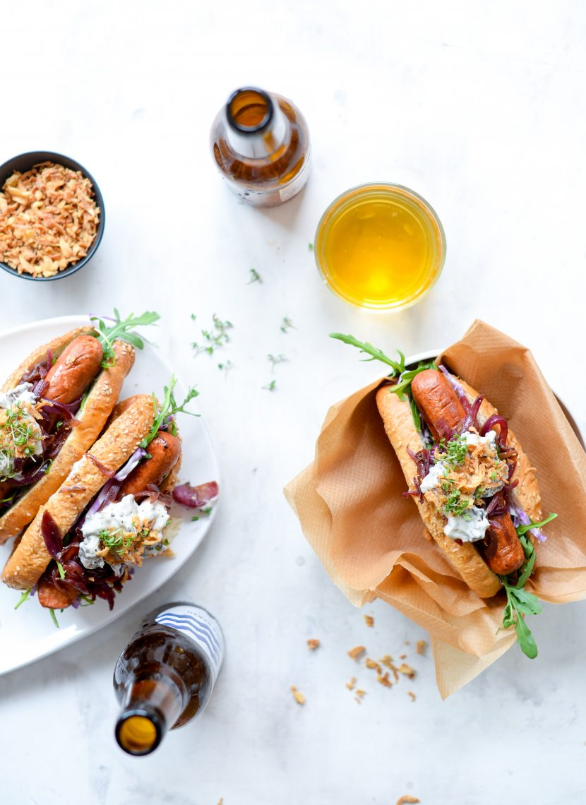 Veganske gourmet hot dogs